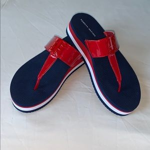Tommy Hilfiger, Navy Blue Thick Sole Sandals